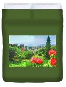 Overlooking Granada Duvet Cover