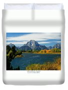 Oxbow Bend In Autumn Duvet Cover by Greg Norrell