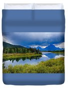 Oxbow Bend Storm Clouds Duvet Cover