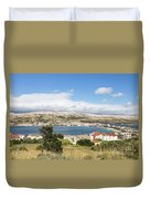 Pag Old Town In Croatia Duvet Cover