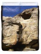 Painted Rock Duvet Cover
