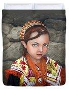Pakistani Girl Duvet Cover