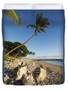 Palm And Driftwood Duvet Cover