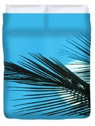 Palm Frond Silhouette Duvet Cover