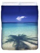 Palm Shadows Duvet Cover