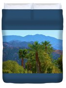 Palm Springs Mountains Duvet Cover