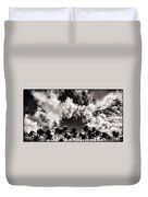 Palms Blowing In The Wind Duvet Cover