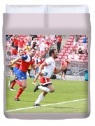Pamam Games Men's Rugby 7's Duvet Cover