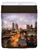 Panama City At Night Duvet Cover