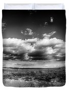 Panorama Of A Valley In Utah Desert With Blue Sky Duvet Cover