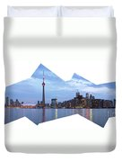 Panorama Of The City Of Toronto Duvet Cover