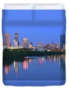 Panoramic Indianapolis Duvet Cover
