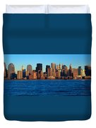Panoramic Sunset View Of Lower Duvet Cover