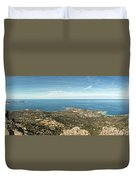 Panoramic View Across Calvi Bay And Revellata In Corsica Duvet Cover
