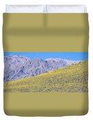 Panoramic View Of Desert Gold Yellow Duvet Cover
