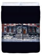 Panoramic View Of Historic Homes Duvet Cover