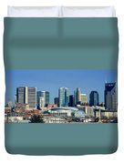 Panoramic View Of Nashville, Tennessee Duvet Cover