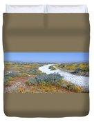 Panoramic View Of White Salt And Desert Duvet Cover
