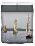 Parade Of Sails Duvet Cover
