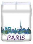 Paris City Skyline Hq  Duvet Cover