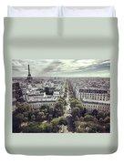 Paris Cityscape From Above, France Duvet Cover
