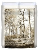 Path In A Forest Duvet Cover