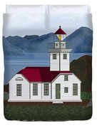 Patos Island Lighthouse Duvet Cover