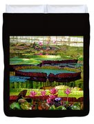Patterns Of Shadow And Sunlight Duvet Cover