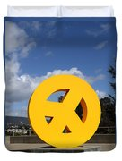 Peace From The Oakland Museum . Oakland California . 7d13411 Duvet Cover