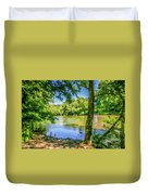 Peaceful On The River Duvet Cover