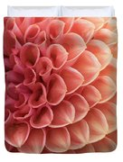 Peachy Dahlia Duvet Cover