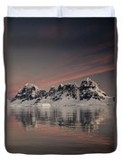 Peaks At Sunset Wiencke Island Duvet Cover by Colin Monteath