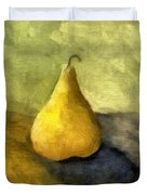 Pear Still Life Duvet Cover by Michelle Calkins