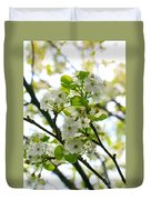 Pear Tree Blossoms Duvet Cover