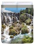 Pearl Shoal Waterfall Duvet Cover