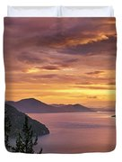 Pend Oreille Sunrise Duvet Cover