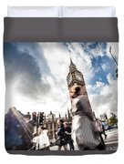 People Crossing In Central London Duvet Cover