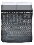 Periodic Table Of Elements In Black Duvet Cover