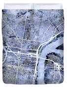 Philadelphia Pennsylvania City Street Map Duvet Cover