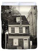 Philadelphia - The Betsy Ross House Duvet Cover
