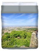 Photographer At Moorish Fortress Duvet Cover