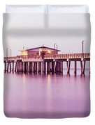 Pier In The Sea, Gulf State Park Pier Duvet Cover