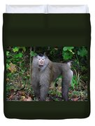 Pig-tailed Macaque Duvet Cover