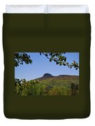 Pilot Mountain In Spring Green Duvet Cover