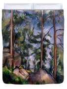 Pines And Rocks Duvet Cover