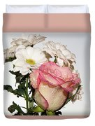 Pink And White Duvet Cover