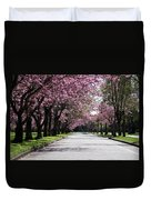 Pink Blooming Trees Duvet Cover