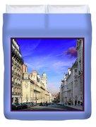 Pink Cloud In Paris Duvet Cover