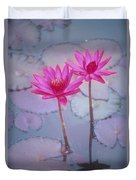 Pink Lily Blossom Duvet Cover
