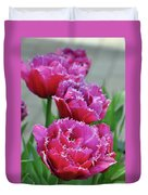 Pink Parrot Tulips Duvet Cover